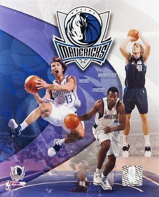 Mavericks 2002 Dallas Team 8X10 Photo