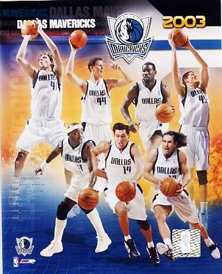 Mavericks 2003 Dallas Team 8X10 Photo LIMITED STOCK