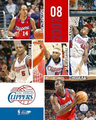 Clippers 2007 Los Angeles Team Composite 8X10 Photo LIMITED STOCK