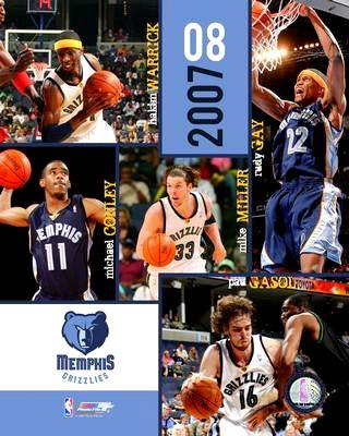 Memphis 2007 Grizzlies Team 8X10 Photo LIMITED STOCK