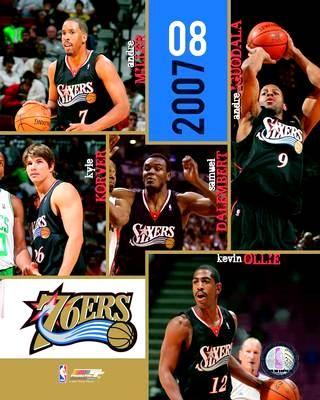 Philadelphia 2007 76ers Team 8X10 Photo LIMITED STOCK