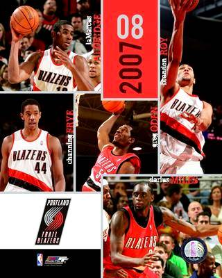 Portland 2007 Blazers Team 8X10 Photo LIMITED STOCK