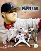 Jon Papelbon World Series Composite LIMITED STOCK Boston Red Sox 8x10 Photo