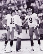 Steve Young, Bill Walsh, & Joe Montana San Francisco 49ers 8X10 Photo