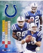 Peyton Manning, Edgerrin James & Marvin Harrison LIMITED STOCK Indianapolis Colts 8X10 Photo