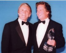 Kirk Douglas and Michael Douglas 8X10 Photo