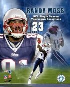 Randy Moss 23 TD's 2007 Season LIMITED STOCK 8X10 Photo