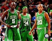 Ray Allen, Paul Pierce, Kevin Garnett Celtics 8X10 Photo LIMITED STOCK