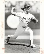 Dennis Eckersley Wire Photo 8x10 Athletics