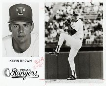 Kevin Brown Team Issue Photo 8x10 Rangers