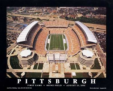 A1 Heinz Field Aerial 1st Game Vs. Lions 8-25-01 Pittsburgh Steelers 8x10 Photo