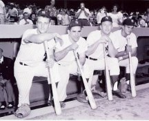 Mickey Mantle, Moose Skowron, Roger Maris, Yogi Berra New York Yankees 8X10 Photo