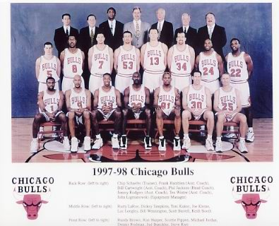 Chicago 1998 Bulls Team 8X10 Photo LIMITED STOCK