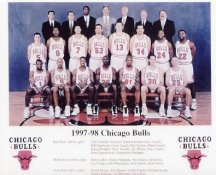 Chicago 1998 Bulls Team 8X10 Photo LIMITED STOCK