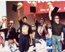 Michael Jordan, Rodman, Pippen, & Jackson Chicago Bulls 8X10 Photo LIMITED STOCK