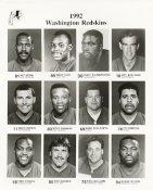 Washington 1992 Team Issue 8x10 Redskins