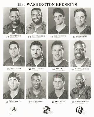 Washington 1994 Team Issue 8x10 Redskins