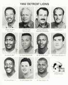 Detroit 1992 Team Issue 8x10 Lions