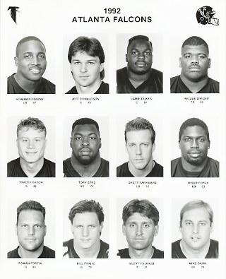 Atlanta 1992 Team Issue 8x10 Falcons