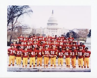Redskins 1970 Washington Team 8X10 Photo