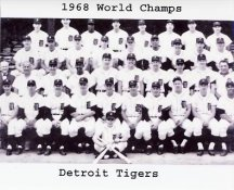 Detroit 1968 World Champs Tigers Team 8x10 Photo