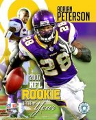 Adrian Peterson ROY 2007 8X10 Photo LIMITED STOCK