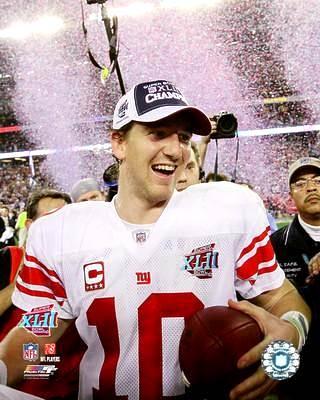 Eli Manning Super Bowl 42 Giants 8X10 Photo