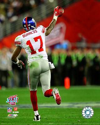 Plaxico Burress LIMITED STOCK Super Bowl 42 Giants 8X10 Photo