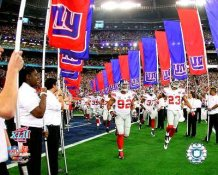 Michael Strahan & Corey Webster LIMITED STOCK Lead Super Bowl 42 Giants Team Introductions 8X10 Photo