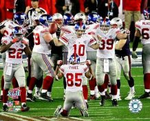 Eli Manning, David Tyree, Madison Hedgecock, Reuben Broughns, Rich Seubert Super Bowl 42 Team 8X10 Photo