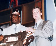 Tim Couch & C. Brown Cleveland Browns 8X10 Photo