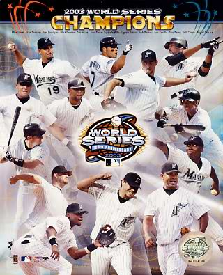 Marlins 2003 World Series Champs Florida Marlins LIMITED STOCK 8X10 Photo