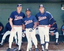 Kirby Puckett, Kent Hrbek, Tom Brunansky Minnesota Twins 8X10 Photo