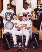Johan Santana Cy Young, Torii Hunter Gold Glove, Justin Morneau MVP, Joey Mauer Batting Title Award 2006 Twins 8x10 Photo
