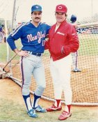 Pete Rose & Keith Hernandez Cincinnati Reds/Mets 8X10 Photo