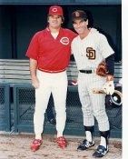 Steve Garvey & Pete Rose Padres / Reds 8X10 Photo LIMITED STOCK
