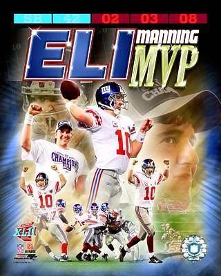 Eli Manning SB 42 MVP Composite 8x10 Photo