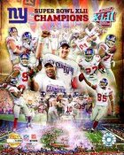 Giants 2008 Limited Edition Super Bowl 42 8X10 Photo -