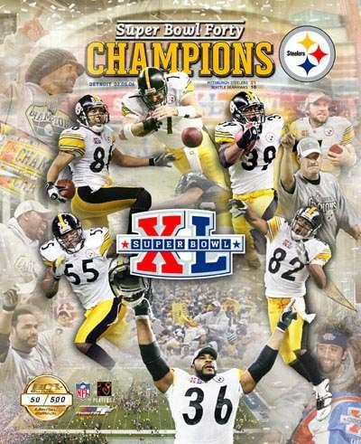 Steelers 2006 11x14 Limited Edition Super Bowl 11x14 Photo