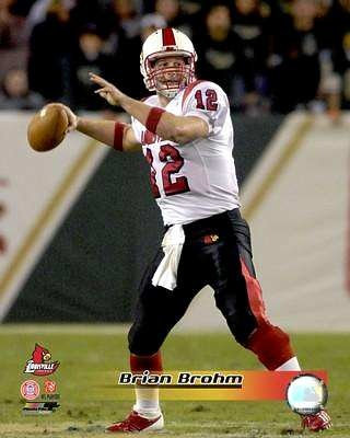 Brian Brohm LIMITED STOCK Louisville Cardinals 8X10 Photo