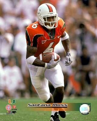 Santana Moss Miami Hurricanes 8X10 Photo