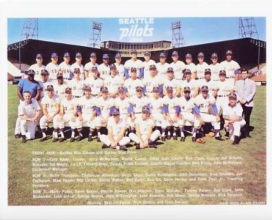 Pilots 1969 Seattle Mariners Team 8X10 Photo