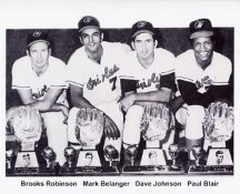 Paul Blair, Brooks Robinson, Mark Belanger, Dave Johnson Baltimore Orioles 8X10 Photo