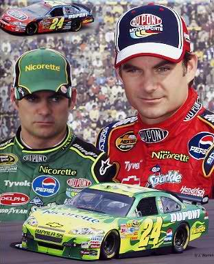 Jeff Gordon 2008 Composite Nicorette Green Car on bottom 8x10 Photo  LIMITED STOCK -