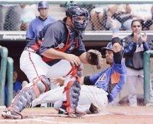 Corky Miller Atlanta Braves & Angel Pagan 8X10 Photo