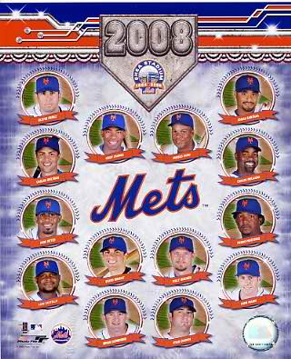 Mets 2008 Team Composite 8X10 Photo