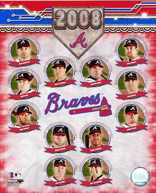 Braves 2008 Team Composite 8X10 Photo