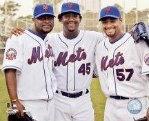 Luis Castillo, Johan Santana, Pedro Martinez New York Mets 8X10 Photo