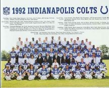 Colts 1992 Indianapolis 8.5x10.5 Team Photo Kroger Promo on Thin Photo Paper