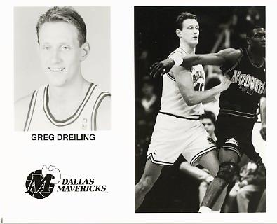 Greg Dreiling Mavericks Team Issue Photo 8x10